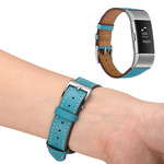 123Watches Fitbit Charge 2 Premium Lederband - hellblau