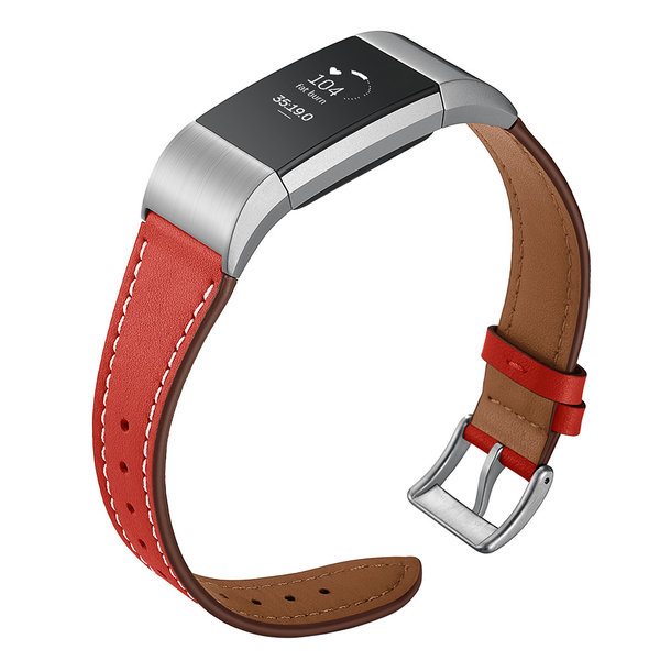 123Watches Fitbit Charge 2 Premium Lederband - rot