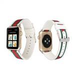 123Watches Apple watch nylon doppelgesichtsband - weiß