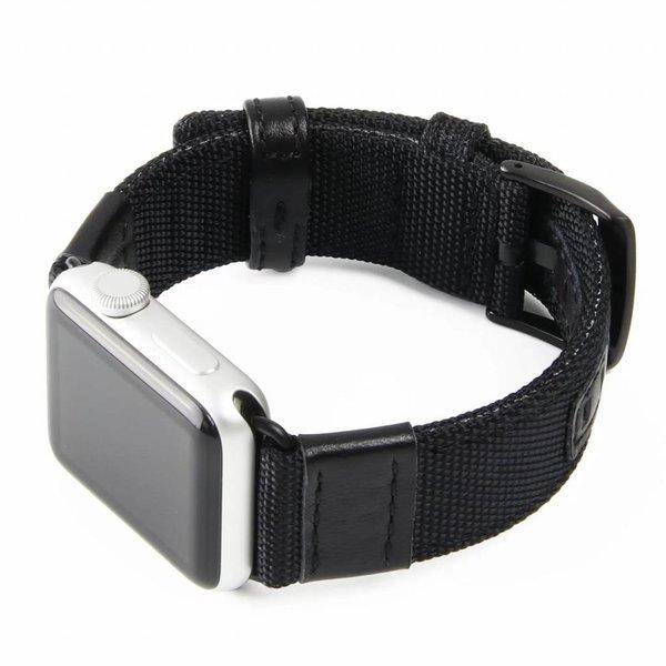 123Watches Apple watch nylon Militär- band - schwarz