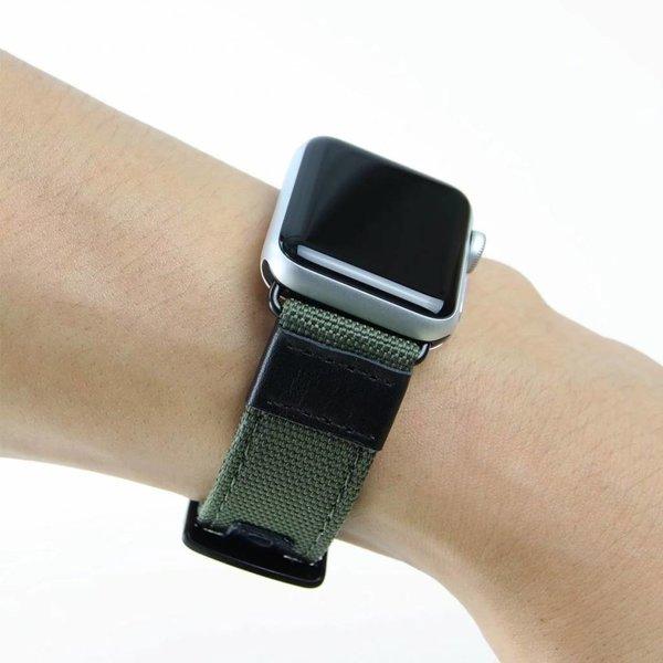 123Watches Apple watch nylon Militär- band - grün