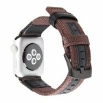 123Watches Apple watch nylon Militär- band - braun