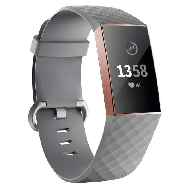 Marke 123watches Fitbit Charge 3 & 4 sport waffel - grau