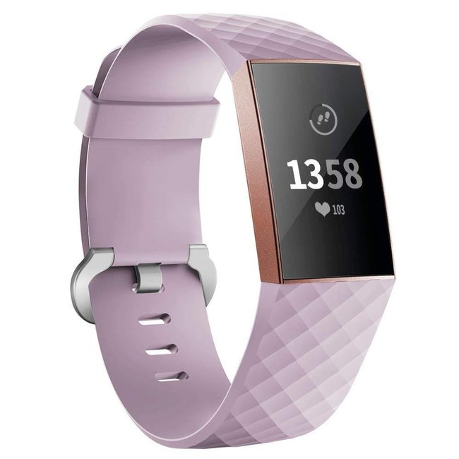 Marke 123watches Fitbit Charge 3 & 4 sport waffel - lavendel