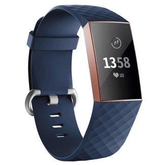 Marke 123watches Fitbit charge 3 & 4 sport waffel band - dunkelblau