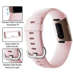 123Watches Fitbit charge 3 & 4 sport waffel band - pink