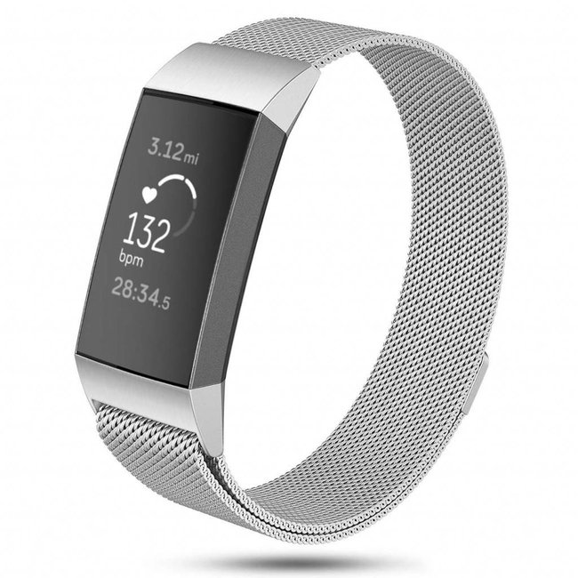 Marke 123watches Fitbit charge 3 & 4 milanese band - silber