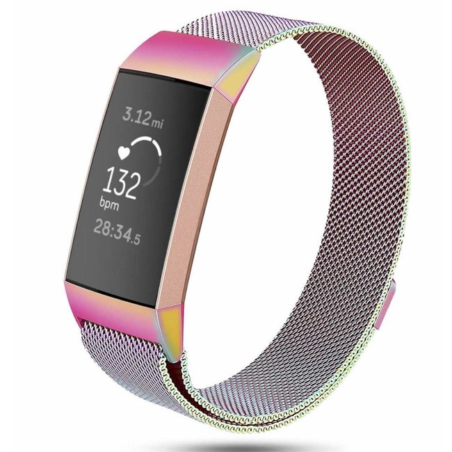 Marke 123watches Fitbit charge 3 & 4 milanese band - bunt