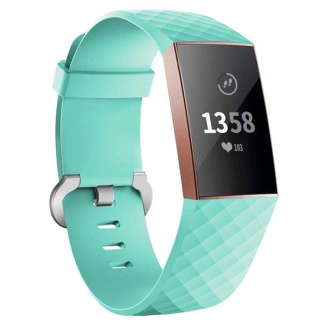 Marke 123watches Fitbit Charge 3 & 4 sport waffel - grün