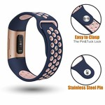 123Watches Fitbit Charge 3 & 4 sport band - dunkelblaues Pink