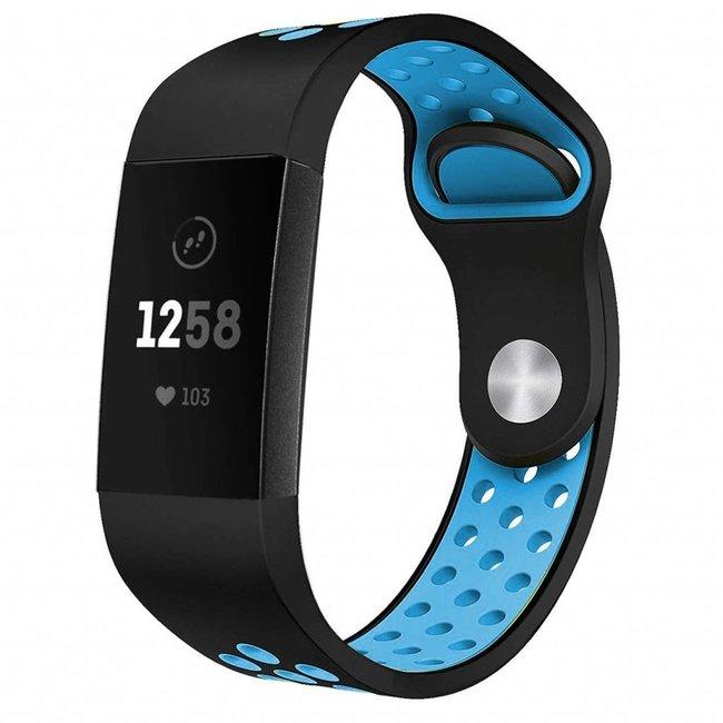 123watches Fitbit charge 3 & 4 sport band - schwarz blau