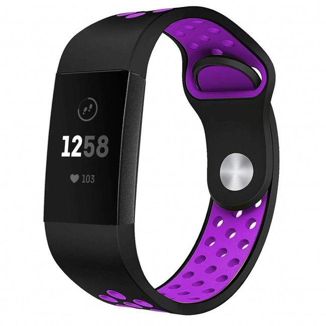 Fitbit charge 3 & 4 sport band - schwarz lila