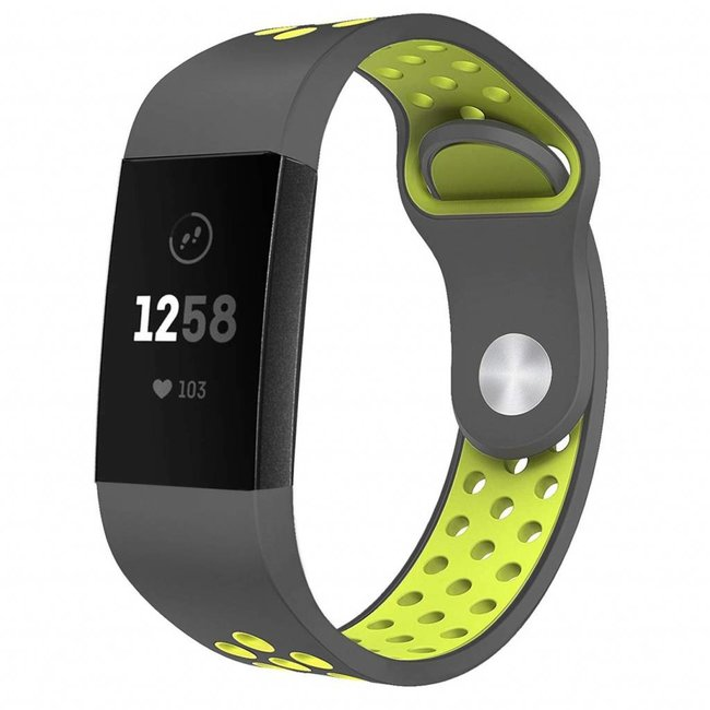 Fitbit Charge 3 & 4 sport band - grau gelb