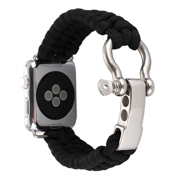 123Watches Apple watch nylon rope band - schwarz