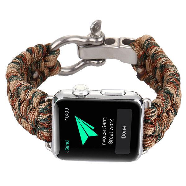 123Watches Apple watch nylon rope band - Tarnung braun