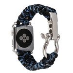 123Watches Apple watch nylon rope band - Tarnung blau
