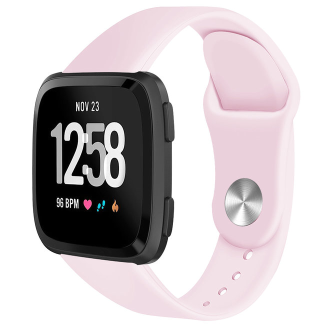 Marke 123watches Fitbit versa silicone band - rosa