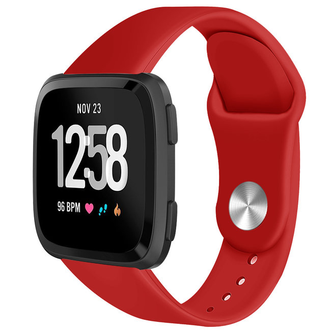 Marke 123watches Fitbit versa silicone band - rot