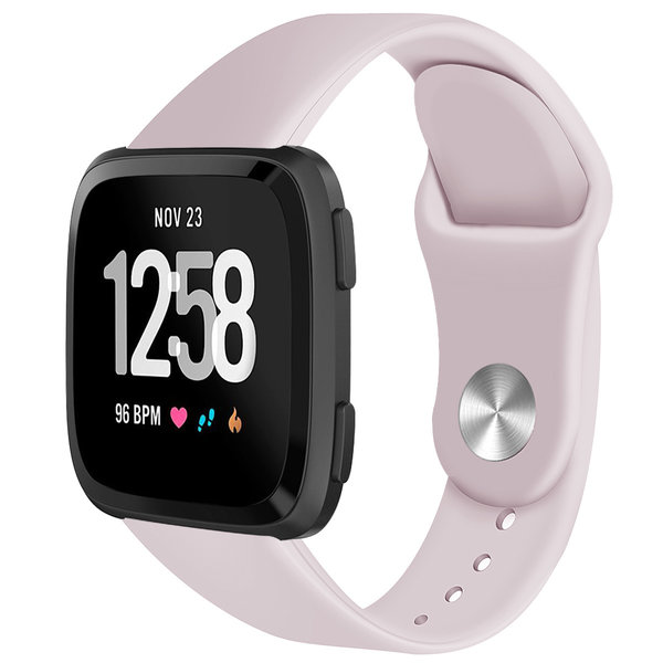 123Watches Fitbit versa silicone band - rosa sand