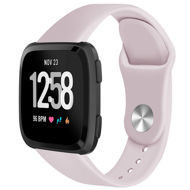 Marke 123watches Fitbit versa silicone band - rosa sand