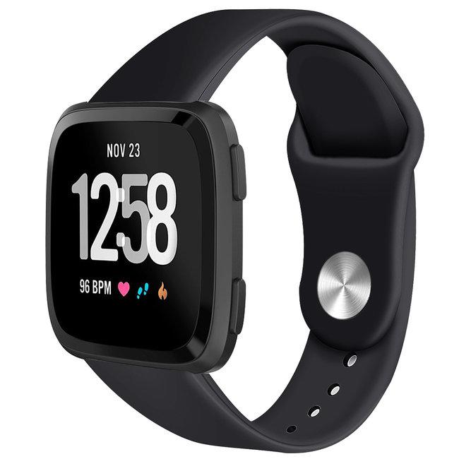 Marke 123watches Fitbit versa silicone band - schwarz