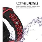 123Watches Fitbit versa doppelt sport band - schwarz rot