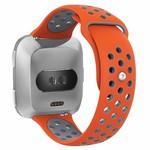 123Watches Fitbit versa doppelt sport band - orange grau