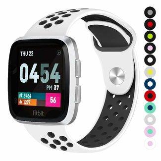 Marke 123watches Fitbit versa doppelt sport band - weiß schwarz