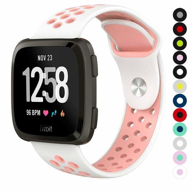 Fitbit versa doppelt sport band - weiß pink