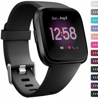 123watches Fitbit versa sport band - schwarz