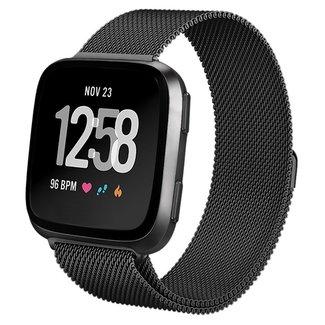 Marke 123watches Fitbit versa milanese band - schwarz