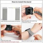 123Watches Fitbit versa milanese band - schwarz