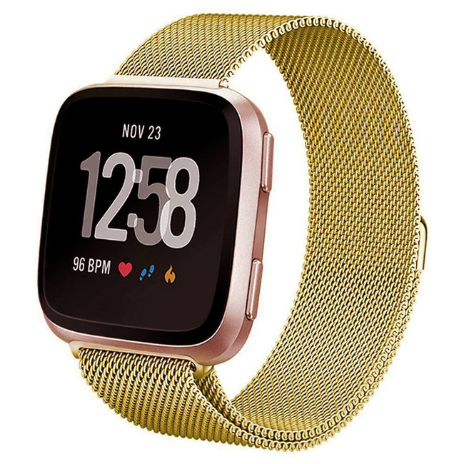 Marke 123watches Fitbit versa milanese band - gold
