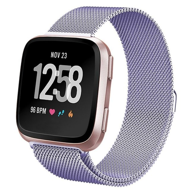 Marke 123watches Fitbit versa milanese band - lavendel