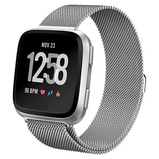 Marke 123watches Fitbit versa milanese band - silber