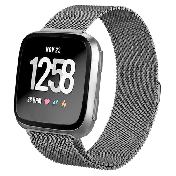 123Watches Fitbit versa milanese band - leerzeichen schwarz