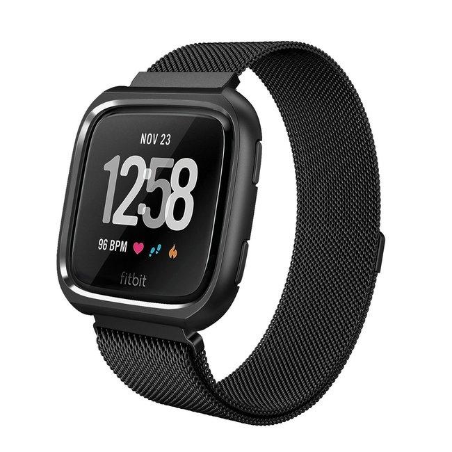 Marke 123watches Fitbit versa milanese case band - schwarz