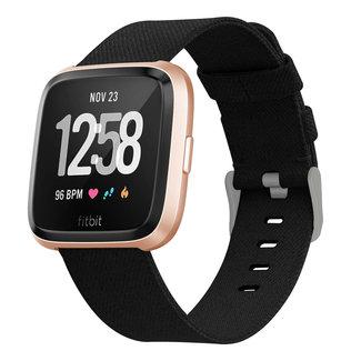 Marke 123watches Fitbit versa nylon gesp band - schwarz