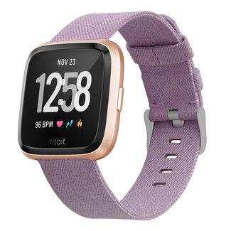 Marke 123watches Fitbit versa nylon gesp band - lavendel