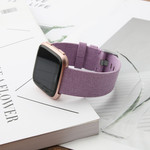 123Watches Fitbit versa nylon gesp band - lavendel