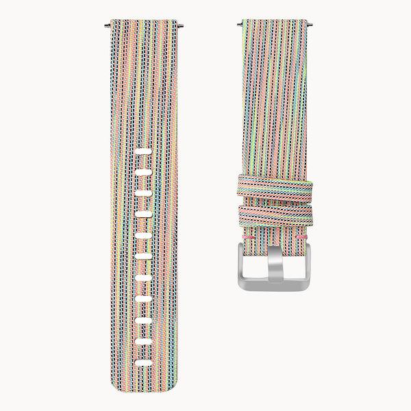 123Watches Fitbit versa nylon gesp band - bunt