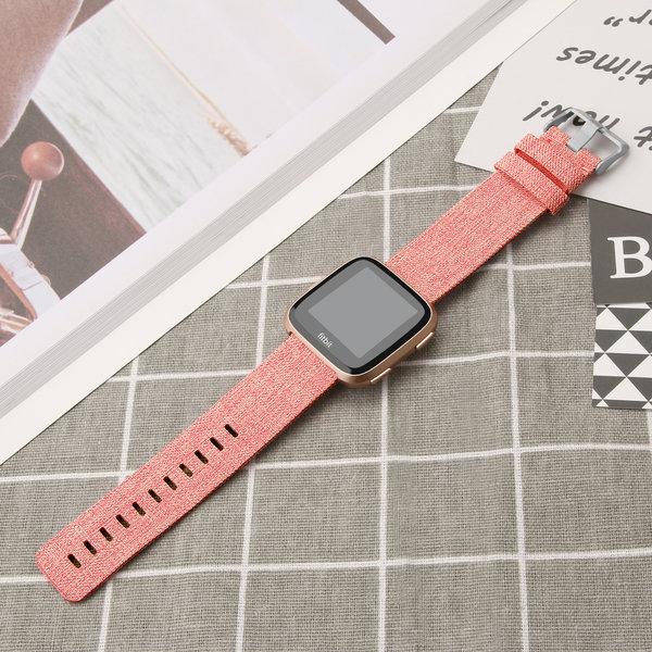 123Watches Fitbit versa nylon gesp band - orange