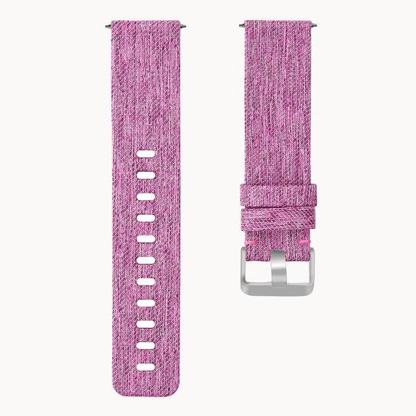123Watches Fitbit versa nylon gesp band - lila