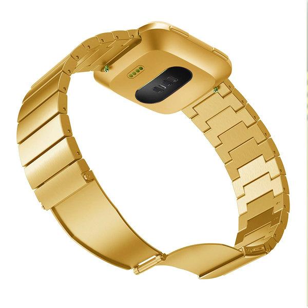 123Watches Fitbit versa stahlgliederband - gold