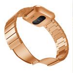 123Watches Fitbit versa stahlgliederband - roségold