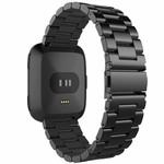 123Watches Fitbit versa 3 perlen stahlgliederband - schwarz