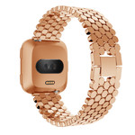 123Watches Fitbit versa fisch stahlgliederband - roségold