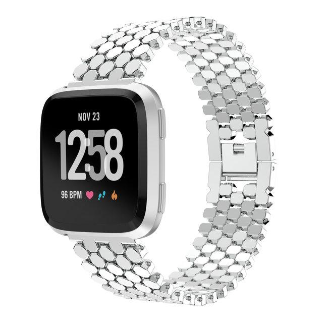 Marke 123watches Fitbit versa fisch stahlgliederband - silber