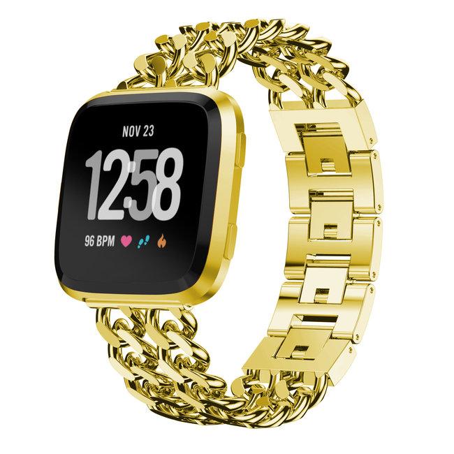123watches Fitbit versa cowboy stahlgliederband - gold