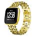 Marke 123watches Fitbit versa cowboy stahlgliederband - gold